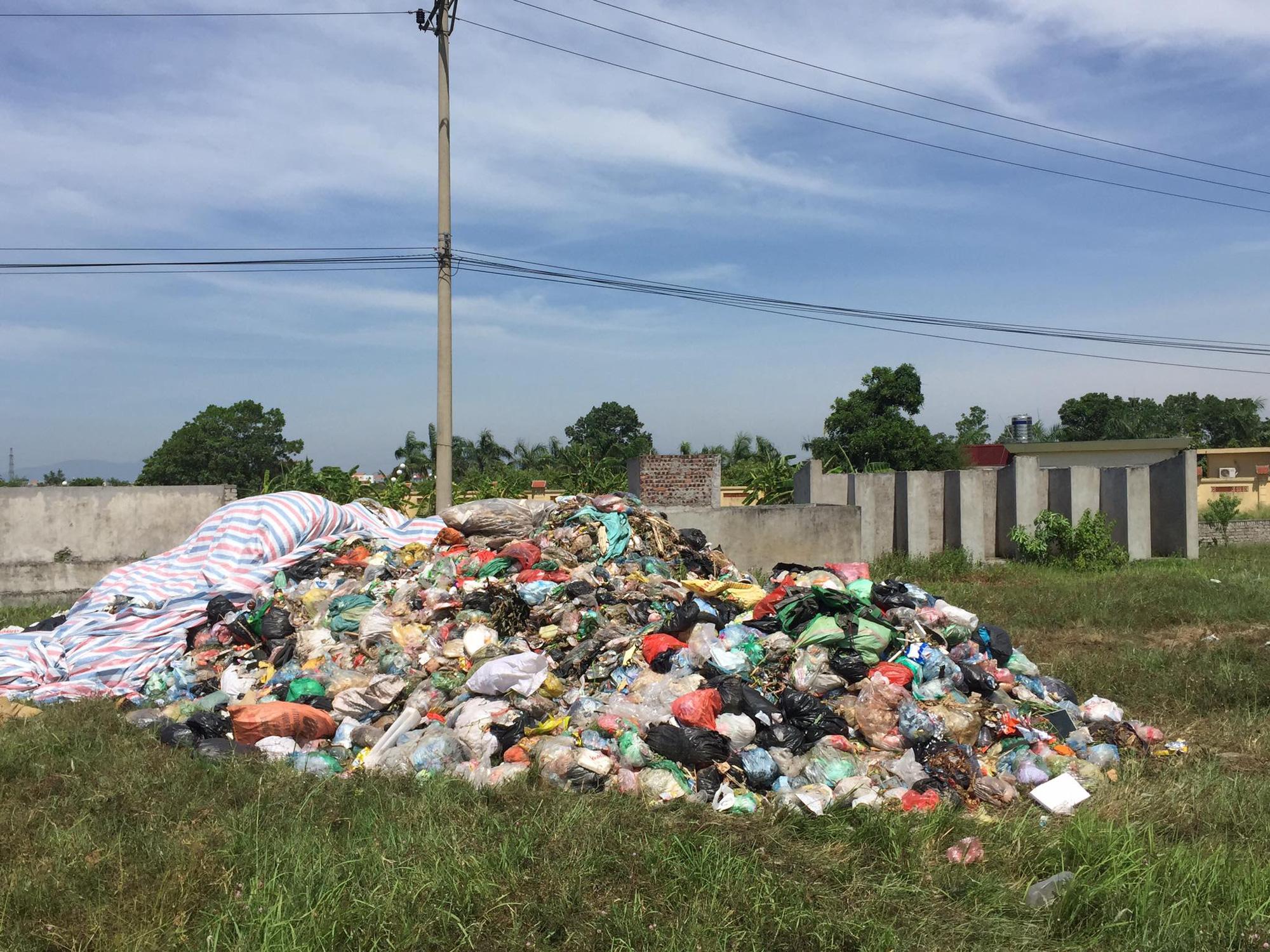 Công ty Minh Quân đổ rác sinh hoạt ra bãi đất trống sát khu dân cư - Ảnh 4.