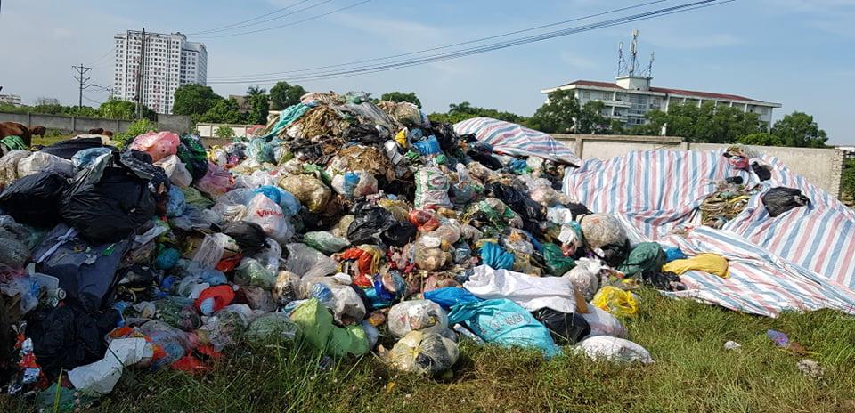 Công ty Minh Quân đổ rác sinh hoạt ra bãi đất trống sát khu dân cư - Ảnh 2.