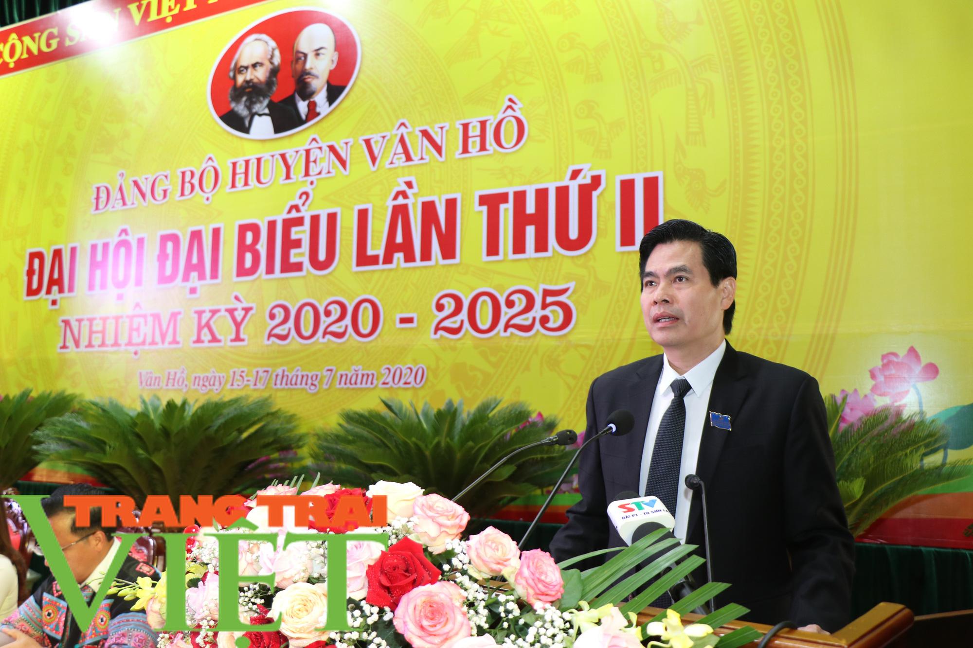 Đại hội đại biểu Đảng bộ huyện Vân Hồ phấn đấu đến 2025 đưa huyện thoát nghèo   - Ảnh 1.