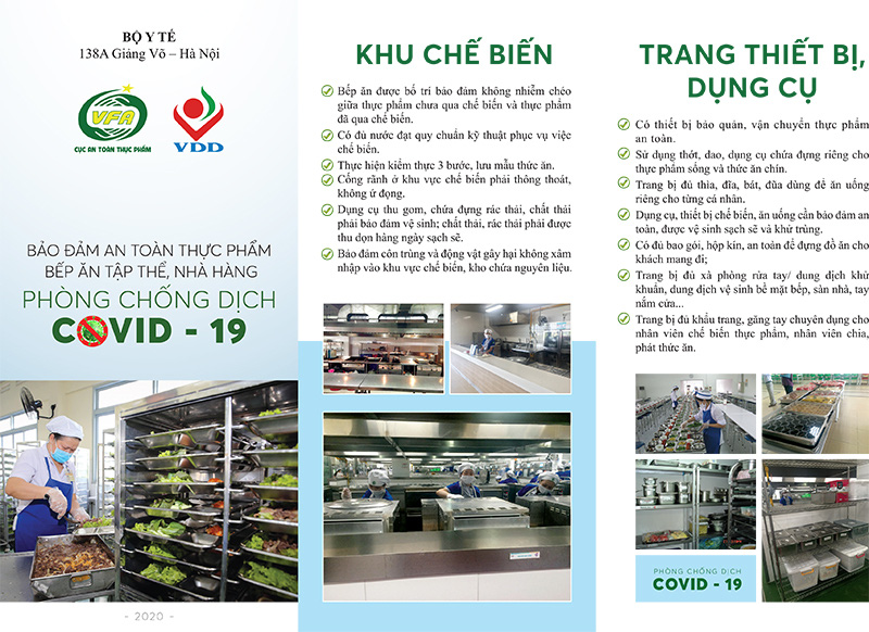 Bảo đảm an toàn thực phẩm bếp ăn tập thể nhà hàng, gia đình, siêu thị phòng chống dịch Covid-19 - Ảnh 3.