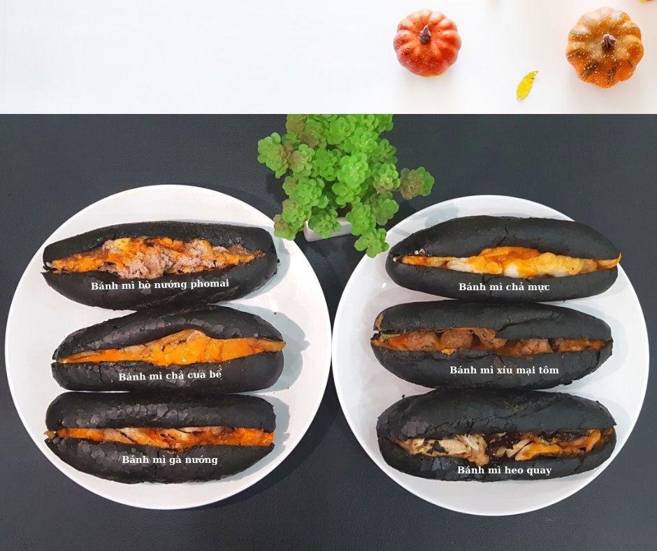 Món bánh mì đen như than đang gây sốt ở Quảng Ninh - Ảnh 3.