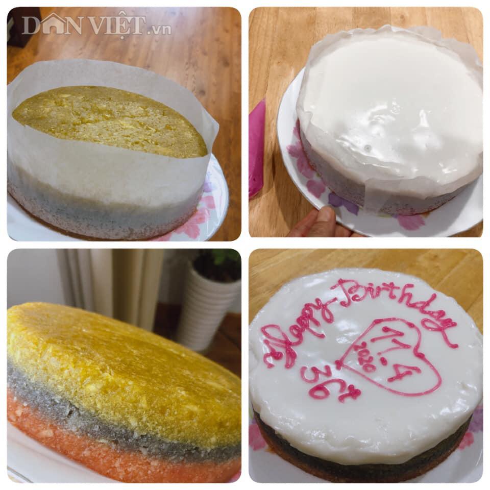 Bánh sinh nhật làm từ khoai mì hấp cốt dừa - Ảnh 2.