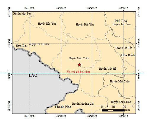 Nóng: Lại động đất ở Sơn La - Ảnh 1.