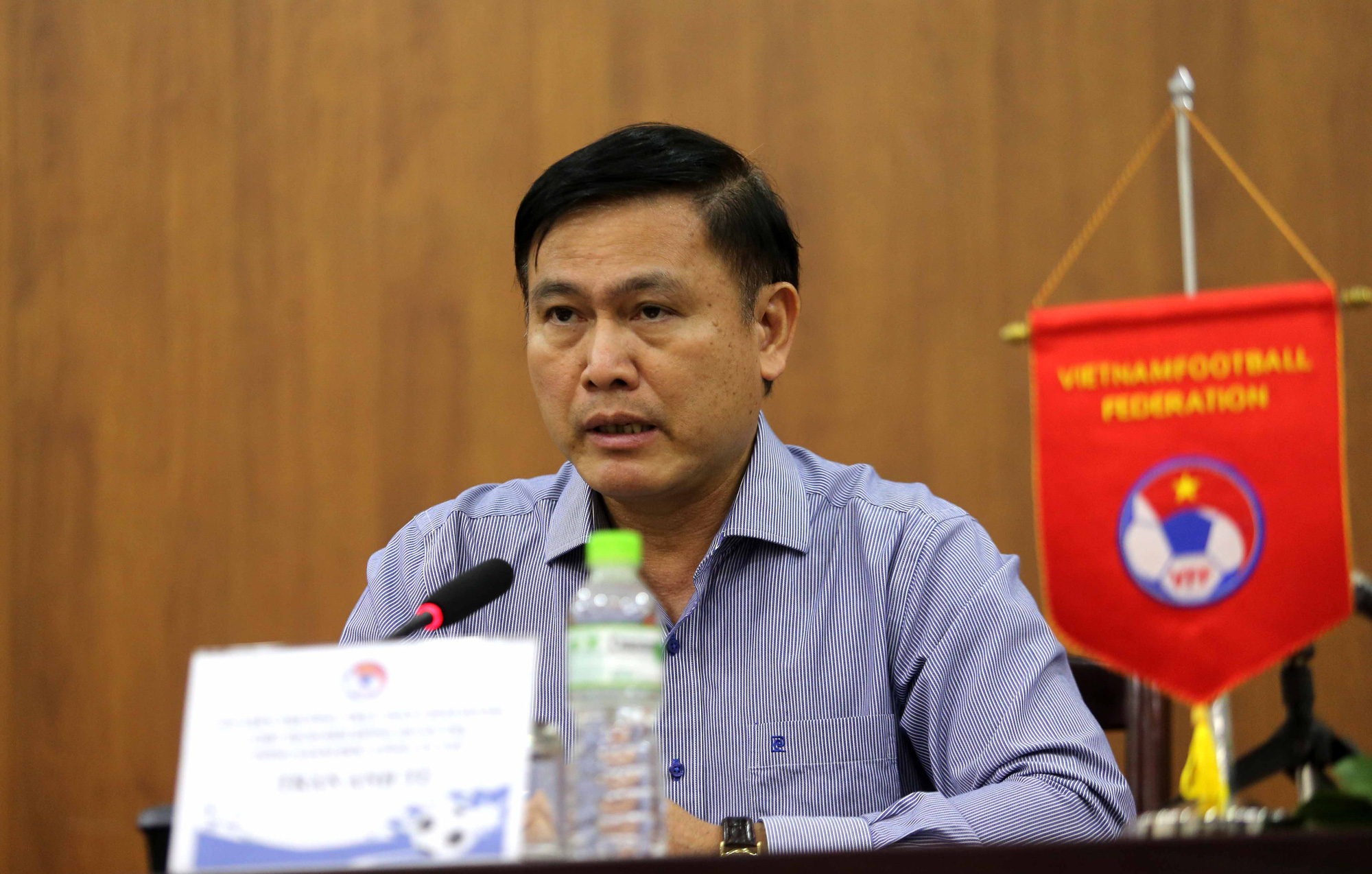 Chủ tịch Hội đồng quản trị VPF Trần Anh Tú cho hay muốn hỗ trợ các CLB thì phải căn cứ kết quả kinh doanh cả năm và các cổ đông sẽ quyết định. Ảnh: Hải Đăng