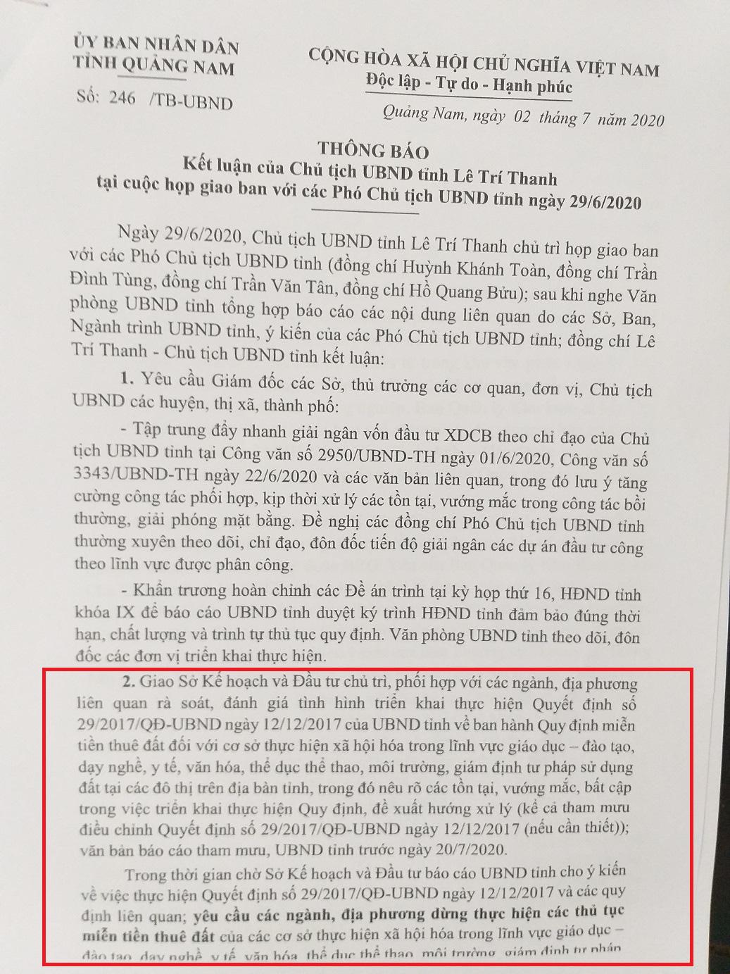 """""""Đất vàng"""" 15.000m2 ở Quảng Nam: Trưởng Ban quản lý KKT mở Chu Lai lên tiếng - Ảnh 1."""