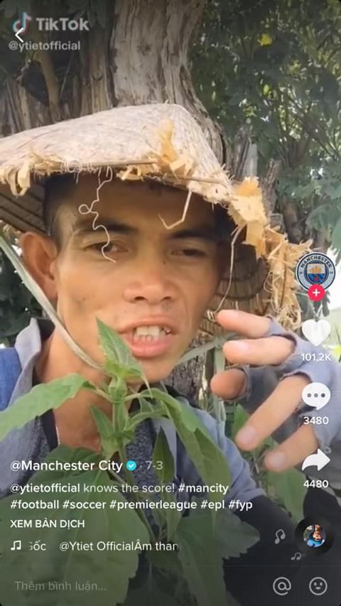 Man City làm điều đặc biệt với chàng trai chăn bò ở Việt Nam - Ảnh 1.