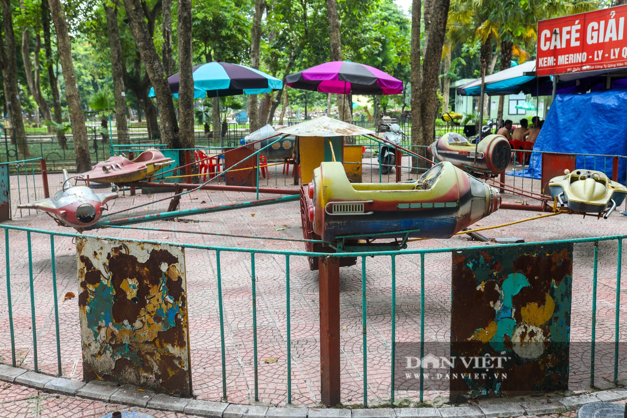 Hà Nội: Nhiều trò chơi trong công viên Thống Nhất ế ẩm, xuống cấp - Ảnh 4.