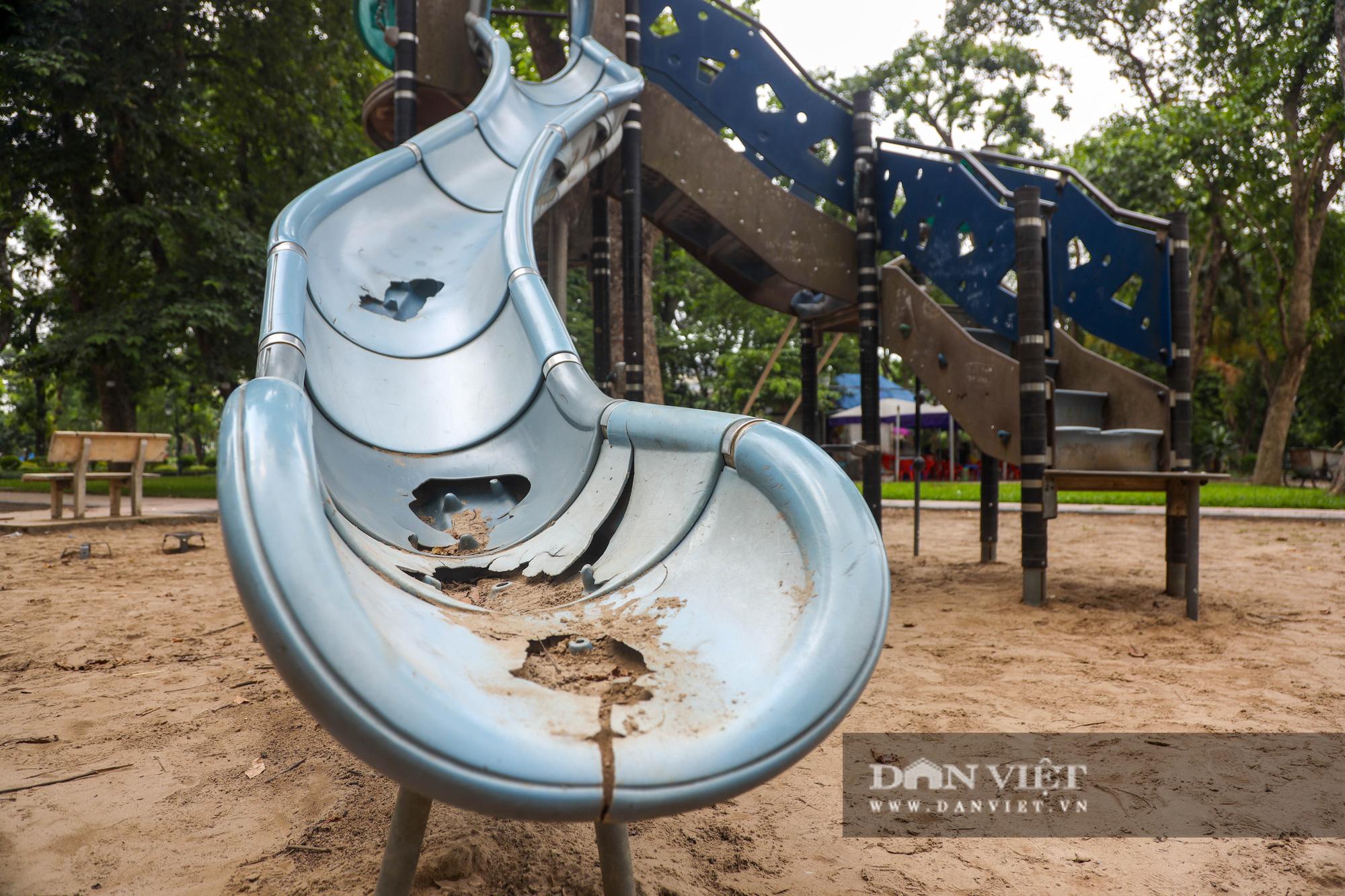 Hà Nội: Nhiều trò chơi trong công viên Thống Nhất ế ẩm, xuống cấp - Ảnh 7.