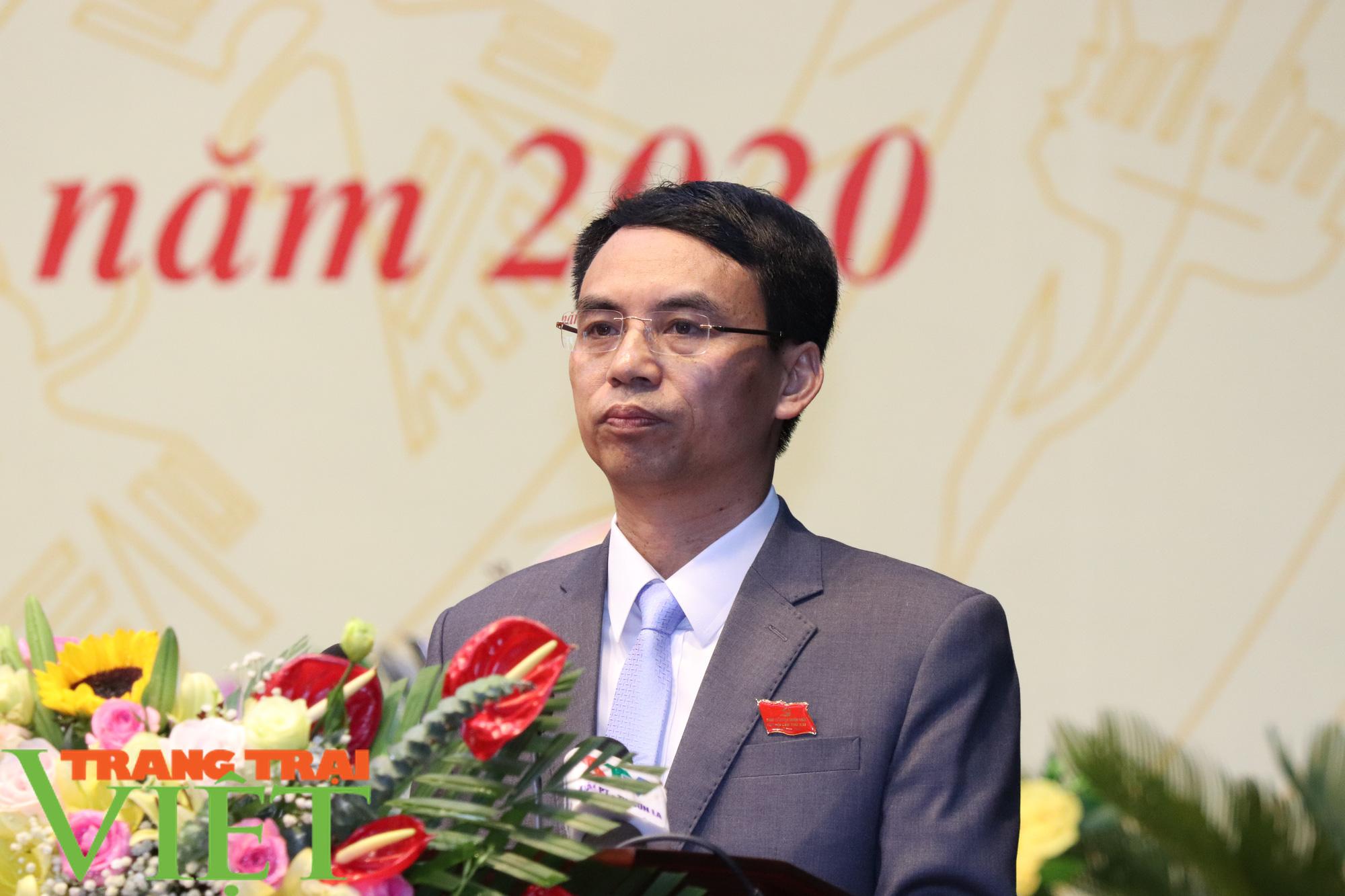 Ông Nguyễn Minh Tiến tái đắc cử Bí thư Huyện uỷ Thuận Châu - Ảnh 2.