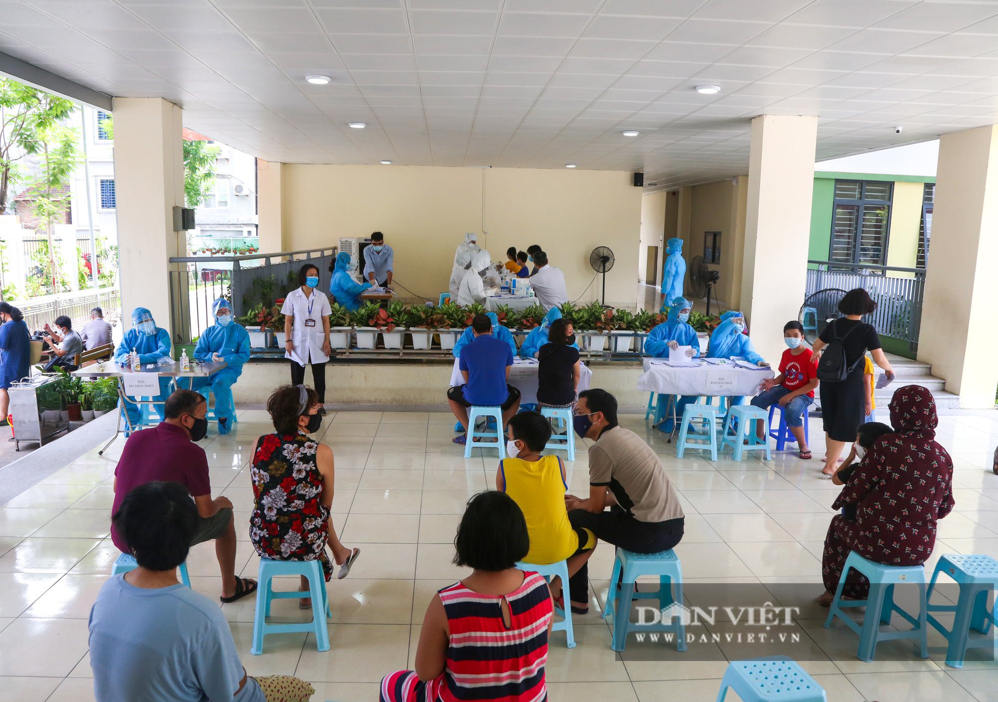 Hàng trăm người dân Hà Nội trở về từ Đà Nẵng tiếp tục được xét nghiệm nhanh Covid-19 - Ảnh 2.