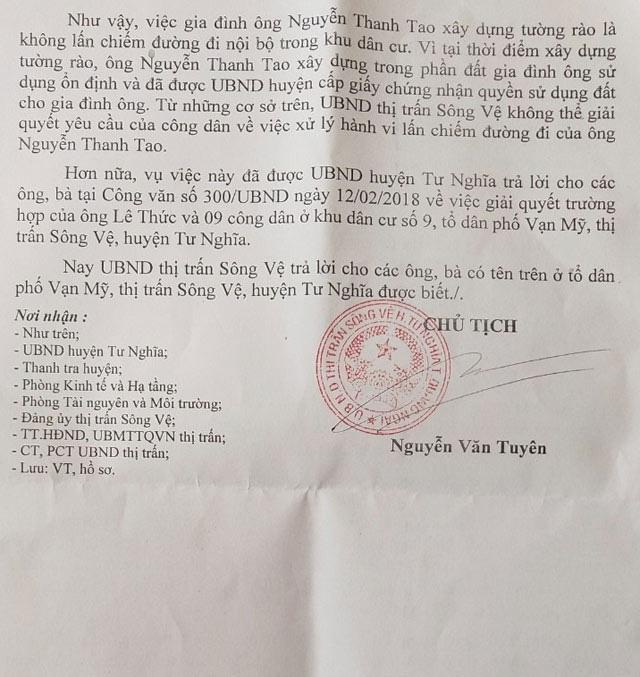 """Quảng Ngãi: UBND thị trấn trả lời """"nữa vời"""" vụ khiếu kiện lấn chiếm, xây dựng đất công?  - Ảnh 3."""