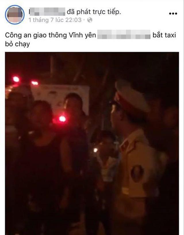 """Xác minh việc 1 CSGT liên quan vội vàng bắt taxi bỏ đi vụ người vi phạm """"tố"""" bị vụt vào mặt - Ảnh 2."""