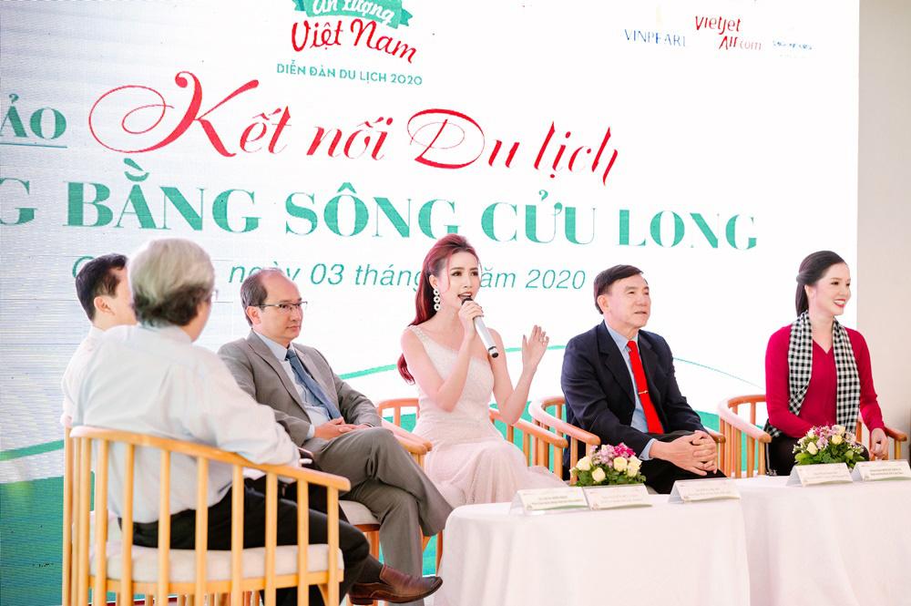 Hoa hậu Phan Thị Mơ dành tâm huyết cho du lịch Đồng bằng sông Cửu Long - Ảnh 1.