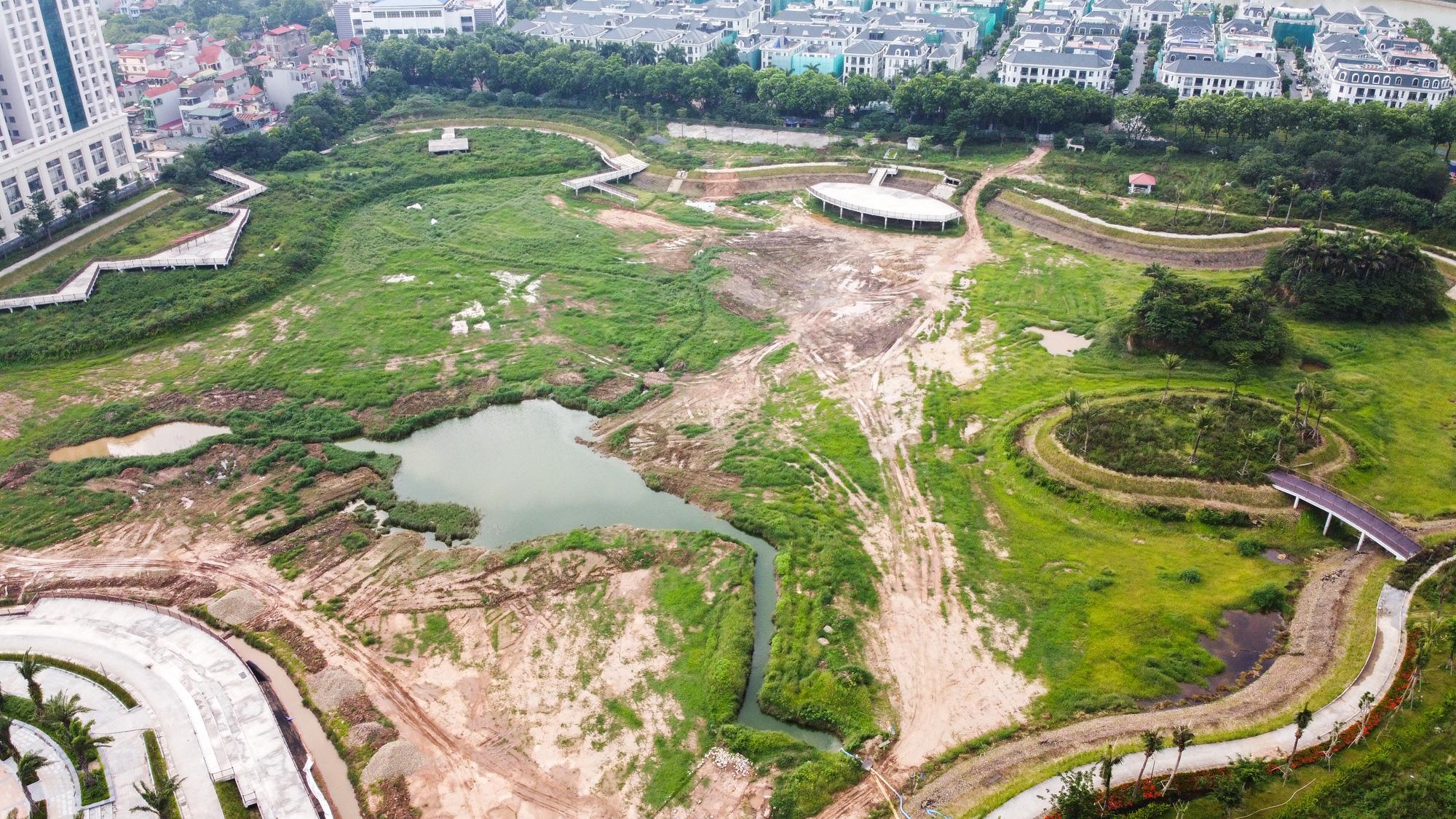 Công viên điều hòa Phùng Khoang nằm im sau 4 năm động thổ - Ảnh 6.
