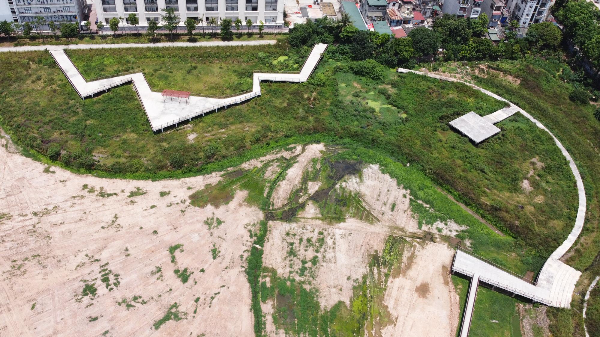 Công viên điều hòa Phùng Khoang nằm im sau 4 năm động thổ - Ảnh 8.