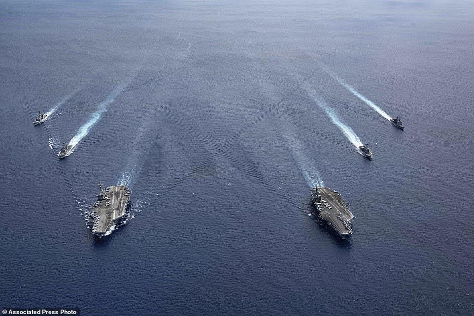 """Tướng Võ Tiến Trung: Mỹ tập trận """"dằn mặt"""" Trung Quốc ở Biển Đông không phải để ủng hộ Việt Nam bảo vệ chủ quyền - Ảnh 2."""