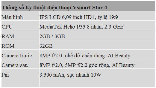 VinSmart ra mắt Vsmart Star 4 - phân khúc 2 triệu đồng - Ảnh 4.