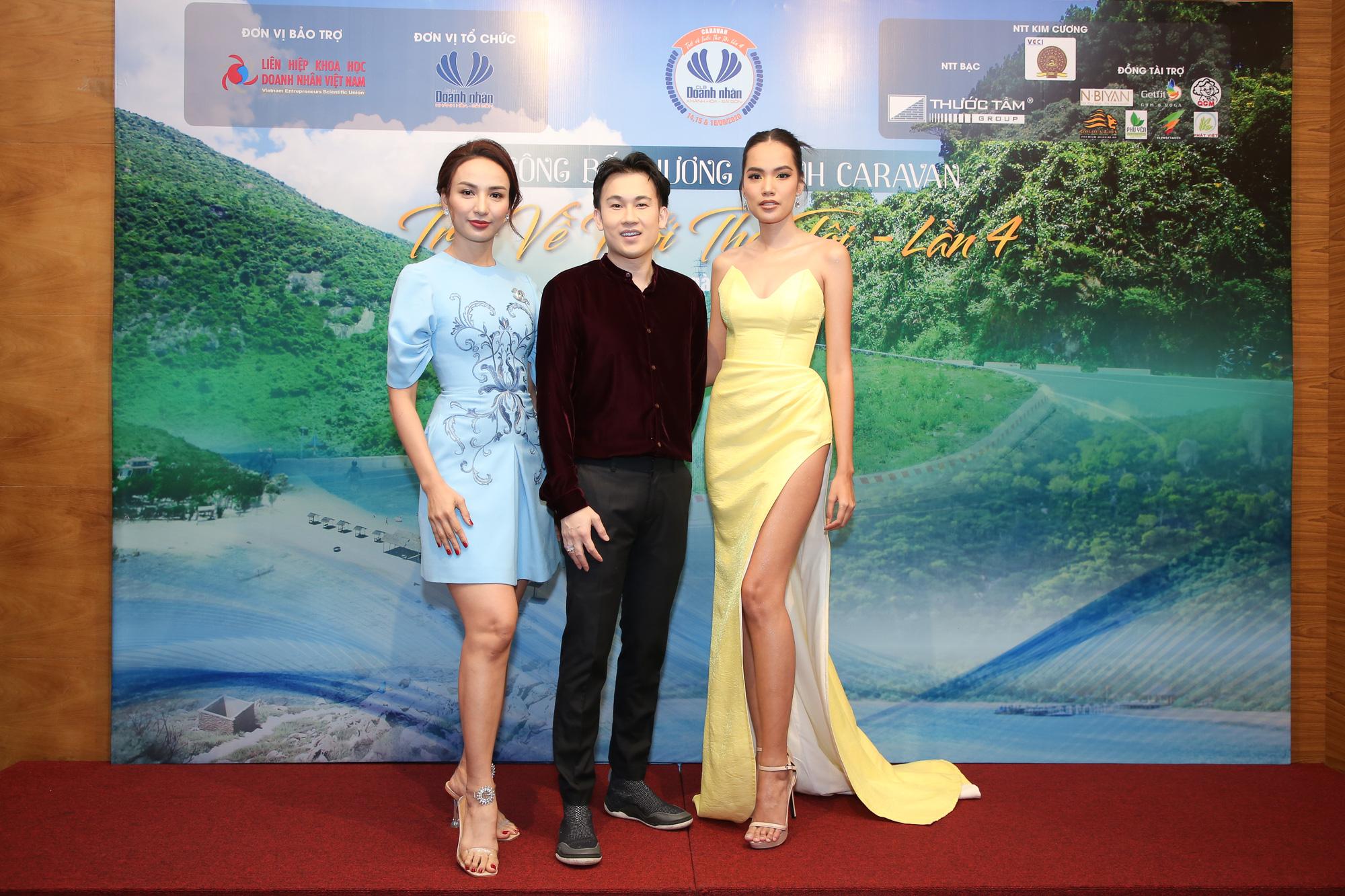 Hoa hậu Ngọc Diễm hội ngộ Dương Triệu Vũ tại Caravan thiện nguyện - Ảnh 1.