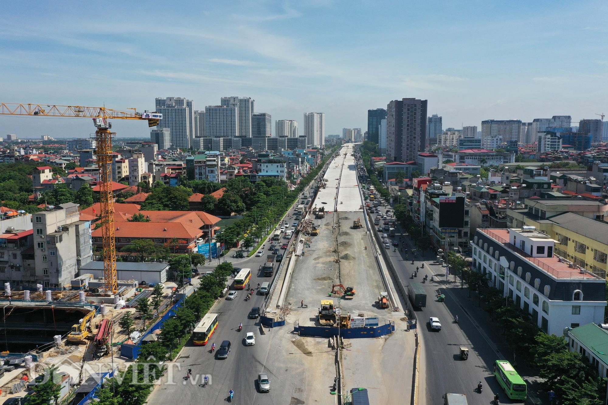 Gấp rút thi công đường vành đai 3 trên cao đón 1010 năm Thăng Long - Hà Nội - Ảnh 2.