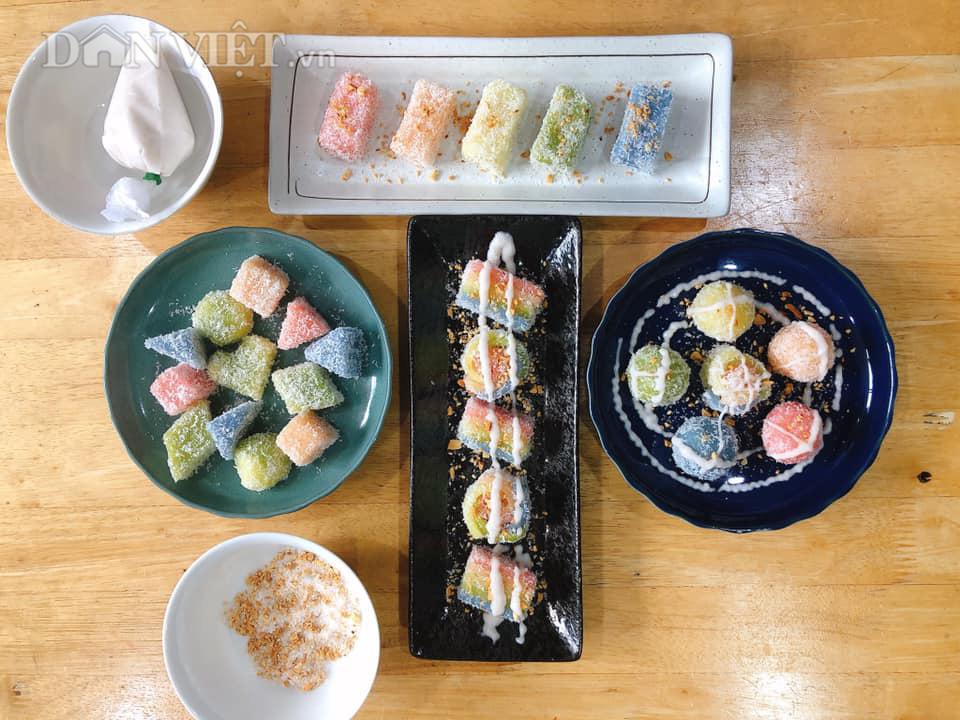 """Làm món bánh """"sushi"""" khoai mì đẹp hấp dẫn ngon mê ly - Ảnh 2."""