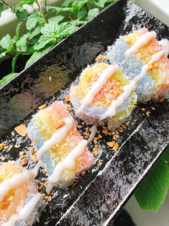 """Làm món bánh """"sushi"""" khoai mì đẹp hấp dẫn ngon mê ly - Ảnh 3."""
