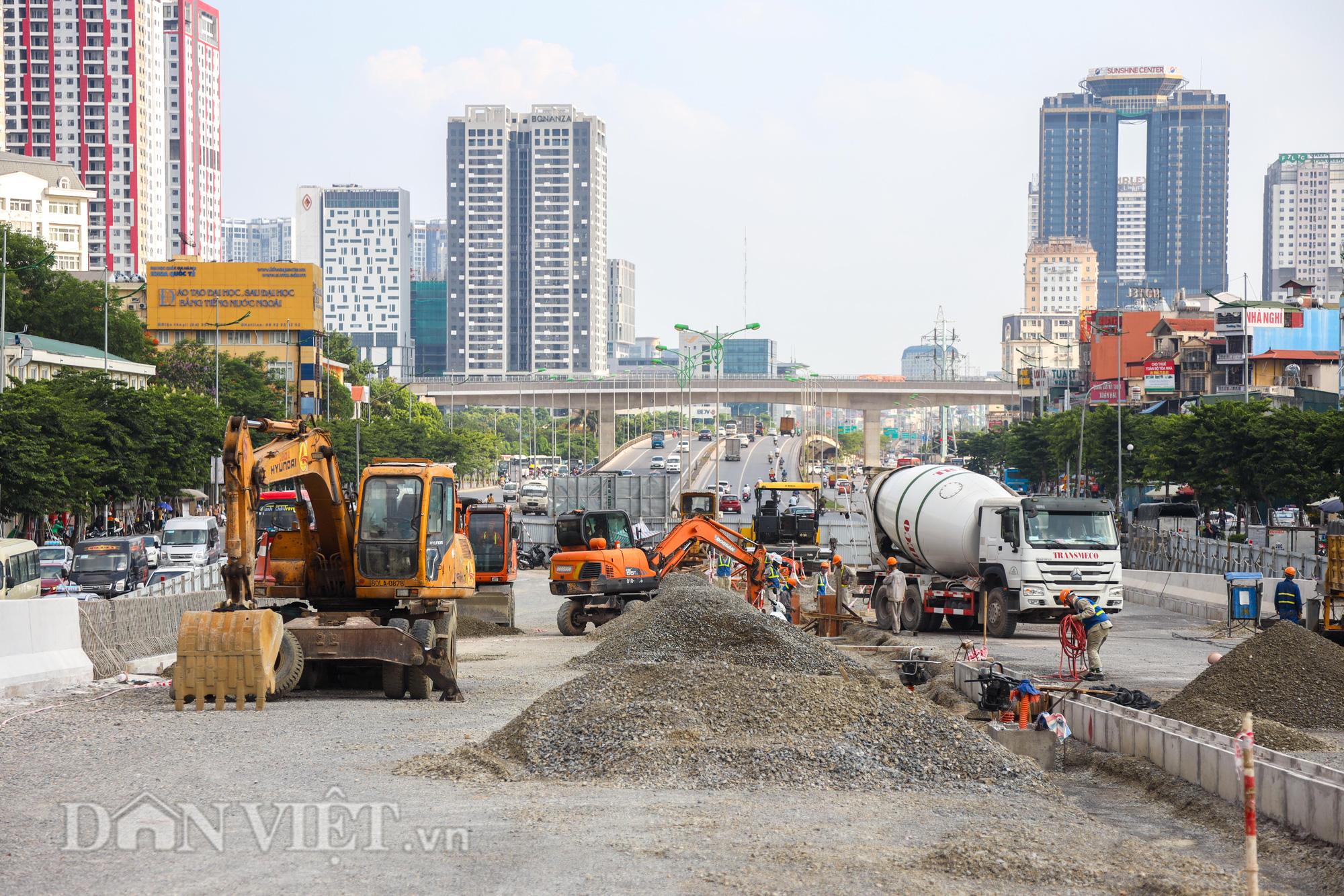 Gấp rút thi công đường vành đai 3 trên cao đón 1010 năm Thăng Long - Hà Nội - Ảnh 3.