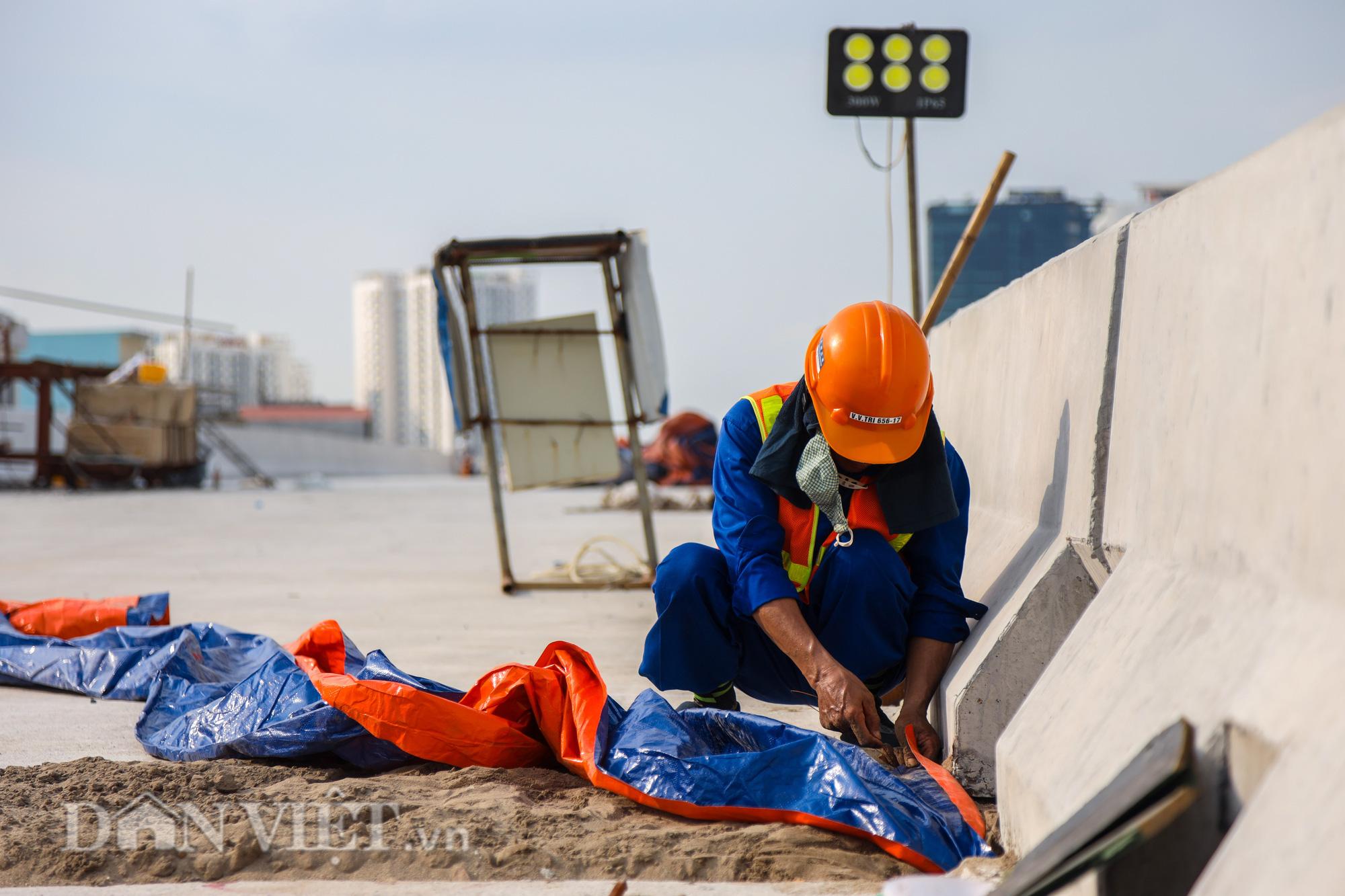 Gấp rút thi công đường vành đai 3 trên cao đón 1010 năm Thăng Long - Hà Nội - Ảnh 13.