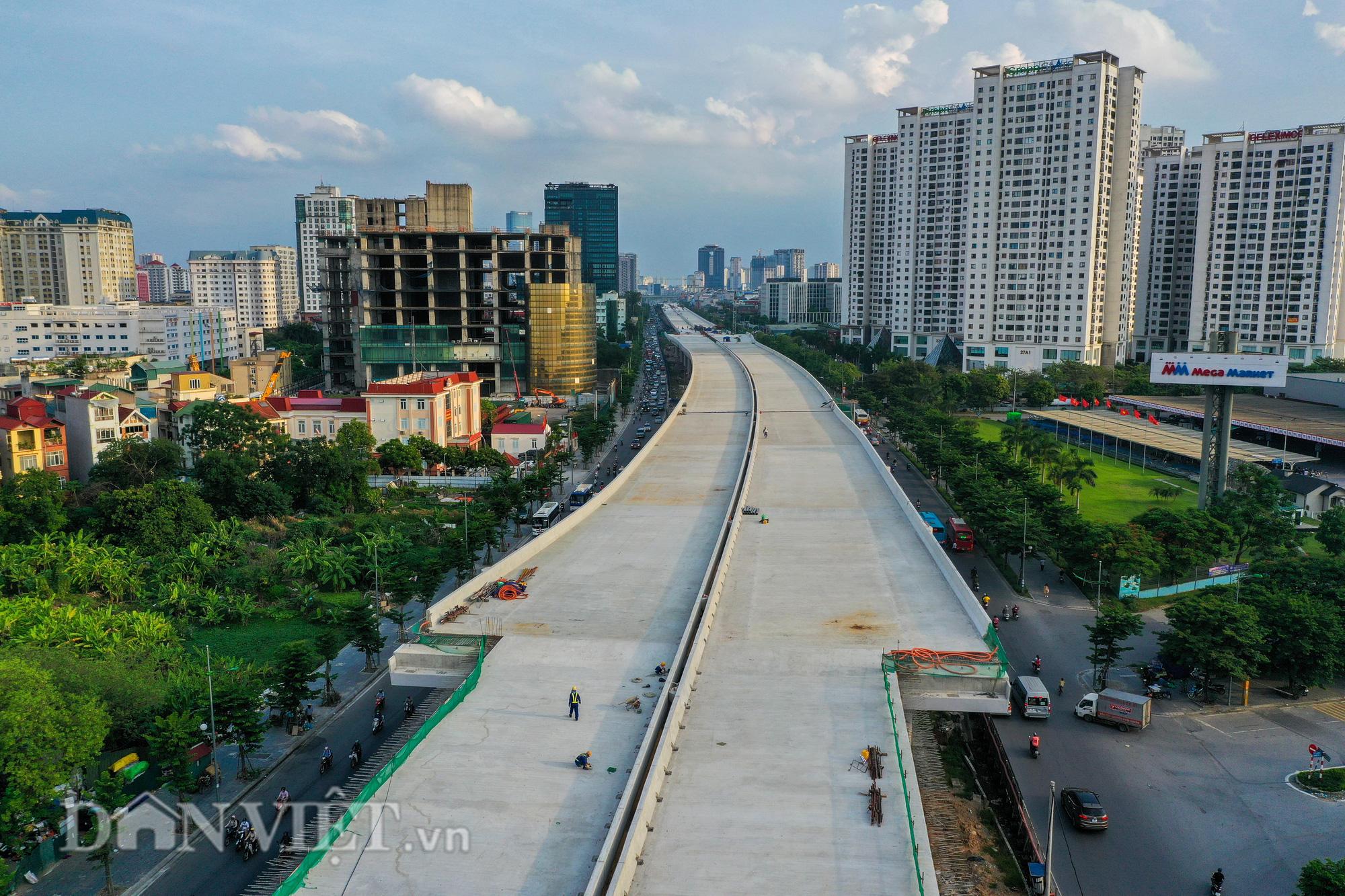 Gấp rút thi công đường vành đai 3 trên cao đón 1010 năm Thăng Long - Hà Nội - Ảnh 14.