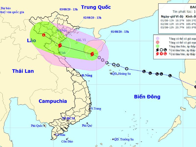 Tin khẩn cấp: Bão số 2 Sinlaku giật cấp 10 hướng thẳng Bắc Trung Bộ và nam đồng bằng Bắc Bộ - Ảnh 1.