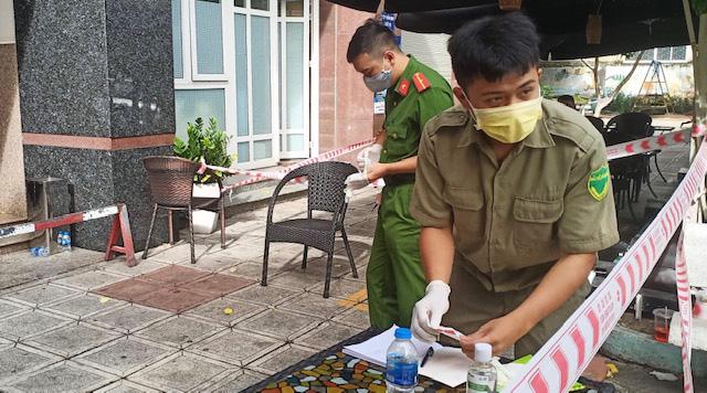 Cận cảnh chung cư Thái An 2 đang bị phong tỏa - Ảnh 2.