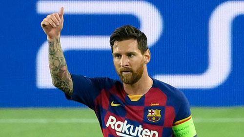 Messi sẵn sàng cho trận Bayern Munich.