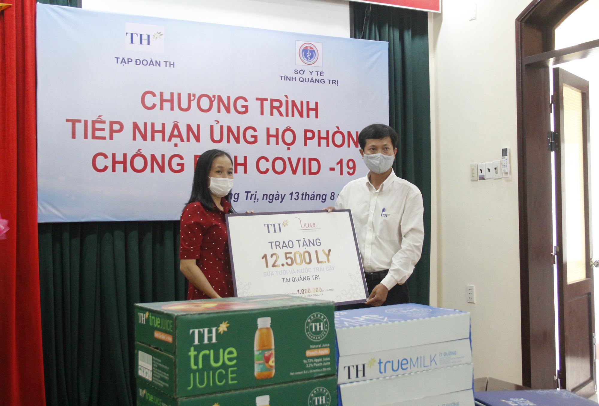 Tập đoàn TH trao tặng 12.500 sản phẩm sữa tươi hỗ trợ tỉnh Quảng Trị phòng, chống dịch Covid-19 - Ảnh 2.