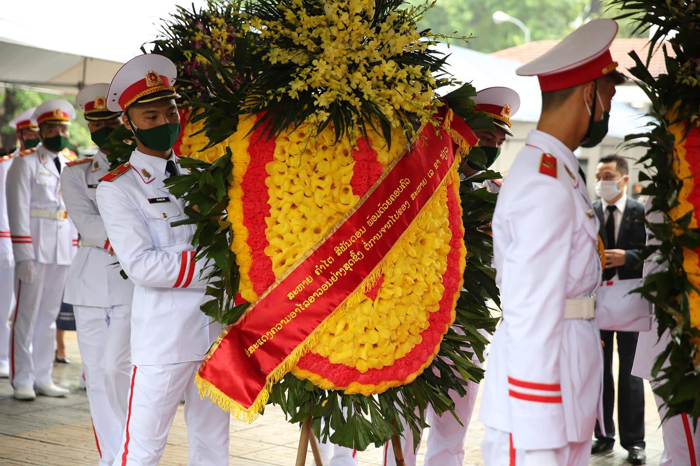 Trực tiếp: Quốc tang nguyên Tổng bí thư Lê Khả Phiêu - Ảnh 4.