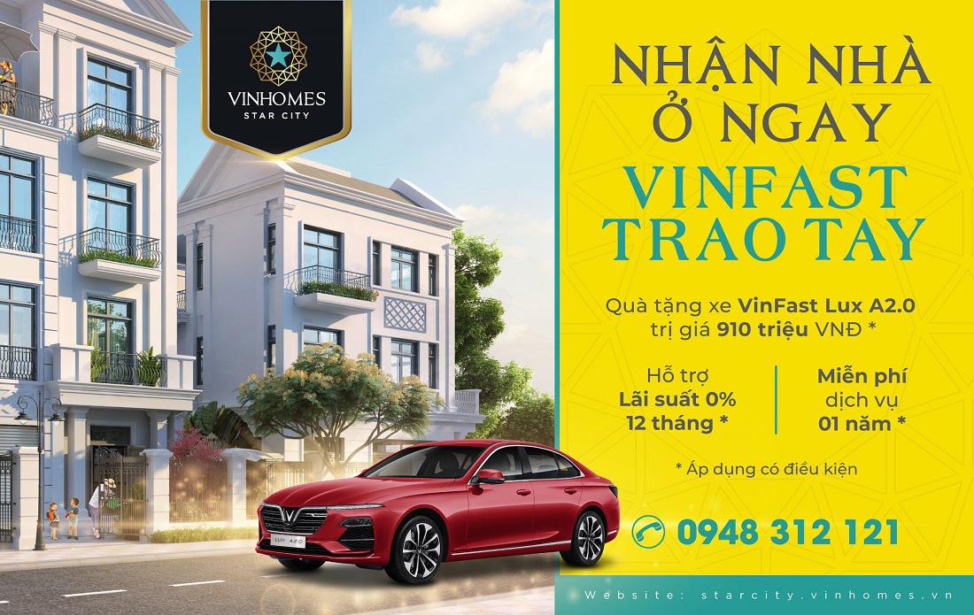 Vinhomes Star City Thanh Hóa tặng xe sang VinFast cho khách mua nhà - Ảnh 1.
