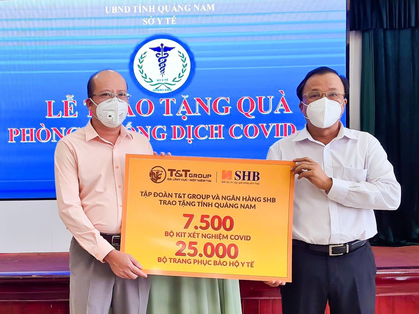 SHB và T&T Group tiếp tục ủng hộ hàng ngàn kit xét nghiệm tiếp sức cho Quảng Nam chống dịch - Ảnh 1.