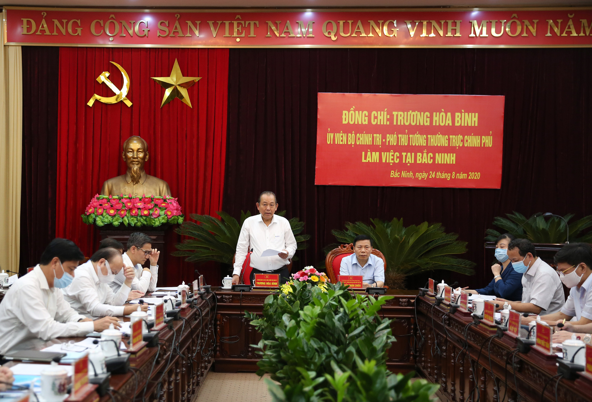 Làm việc với tỉnh Bắc Ninh về giải ngân vốn đầu tư công, Phó Thủ tướng Trương Hòa Bình giao 7 nhiệm vụ trọng tâm - Ảnh 2.