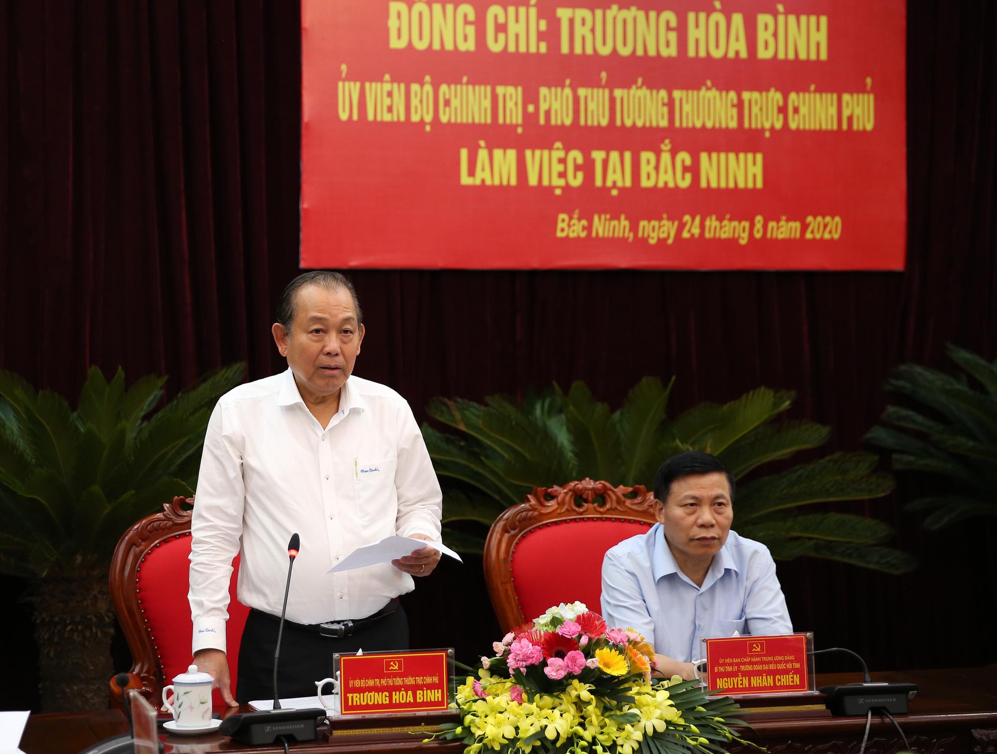 Làm việc với tỉnh Bắc Ninh về giải ngân vốn đầu tư công, Phó Thủ tướng Trương Hòa Bình giao 7 nhiệm vụ trọng tâm - Ảnh 1.
