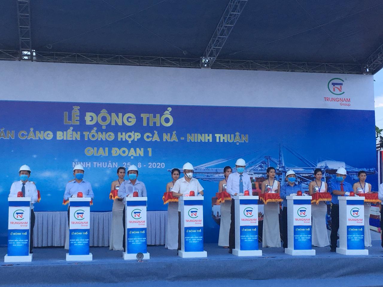 Ninh Thuận: Trung Nam Group tổ chức lễ động thổ dự án cảng biển tổng hợp Cà Ná - Ảnh 1.