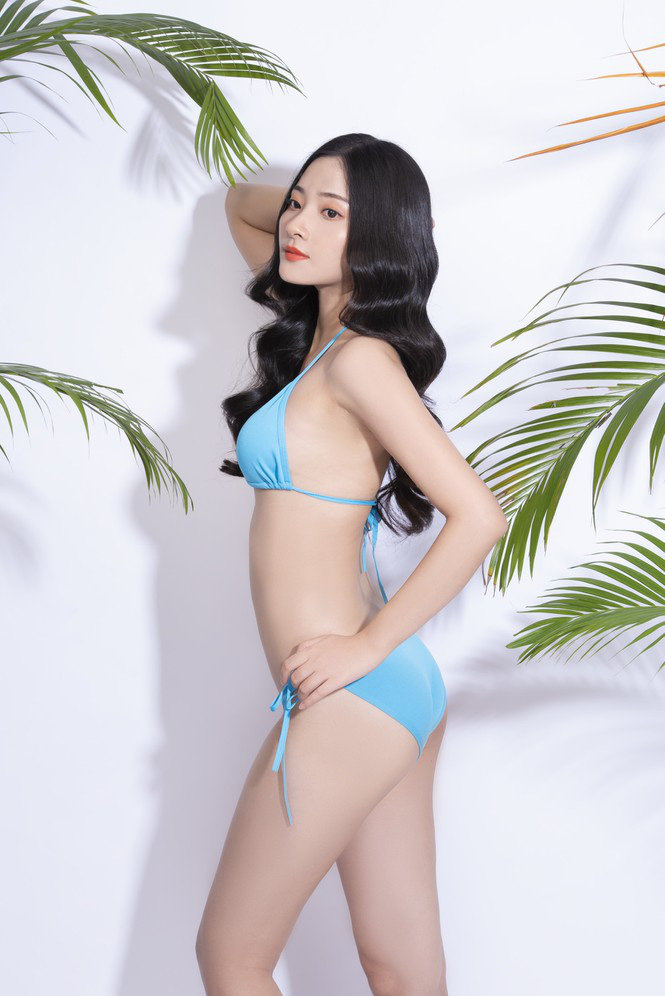"""Mỹ nhân Hà Tĩnh cao 1,72 m mặc bikini quyến rũ """"bỏng mắt"""" thi Hoa hậu Việt Nam 2020 - Ảnh 5."""