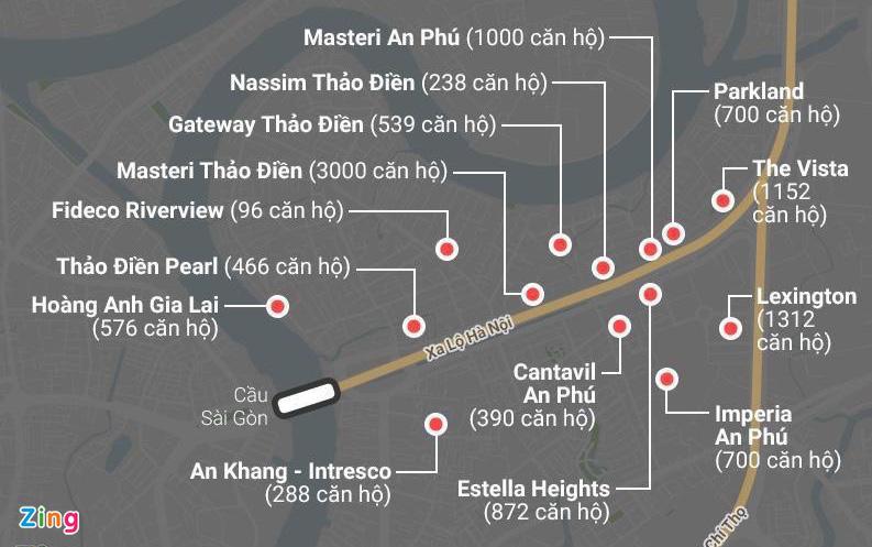 Chung cư dày đặc tuyến metro Bến Thành - Ảnh 1.