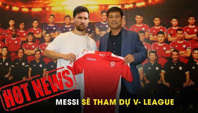"""ẢNH CHẾ: Rời Barcelona, Messi sang Việt Nam """"khuấy đảo"""" V.League - Ảnh 15."""