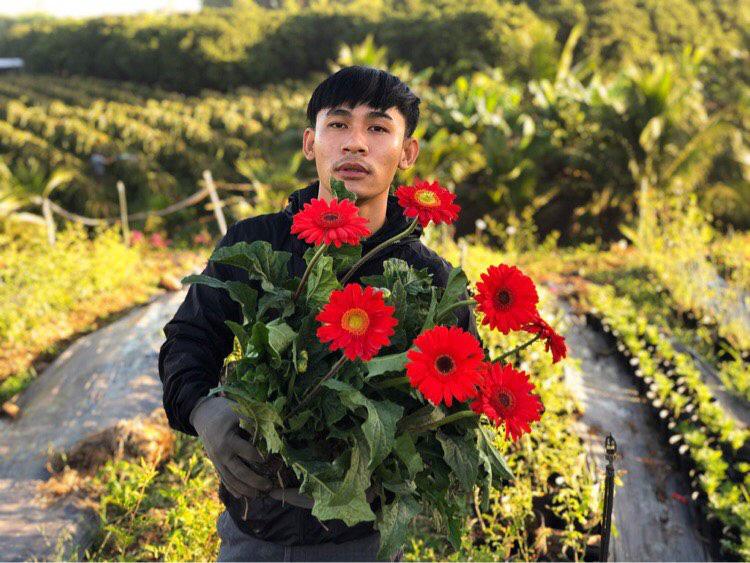 Chàng trai 23 tuổi - thanh xuân rực rỡ mỗi ngày chăm 2.000 gốc hồng, nuôi cá và trồng rau, cây ăn quả - Ảnh 4.