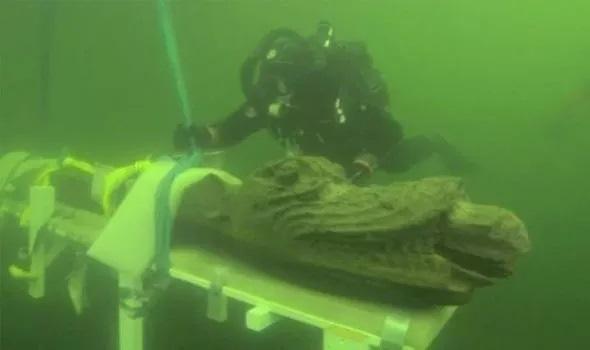 """Đột nhập xác tàu đắm, bất ngờ vớt được """"quái vật biển"""" kỳ lạ bên trong - Ảnh 1."""