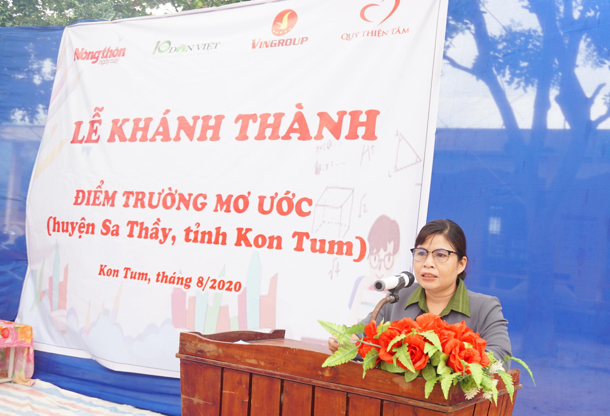 """Báo NTNN/Dân Việt - Quỹ Thiện Tâm khánh thành """"Điểm trường mơ ước"""" tại Kon Tum - Ảnh 3."""