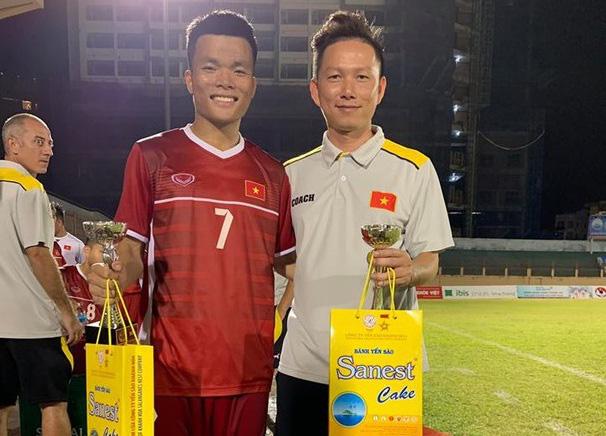 Mạnh Quỳnh tại giải U19 Quốc tế 2019