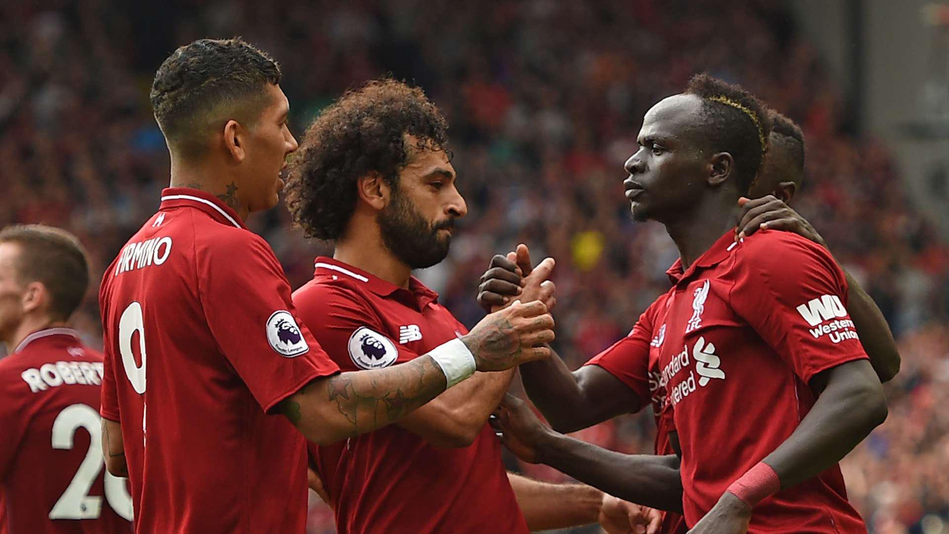 Bộ ba tấn công Firmino - Salah - Mane hứa hẹn gây ra nhiều khó khăn cho hàng thủ Arsenal.