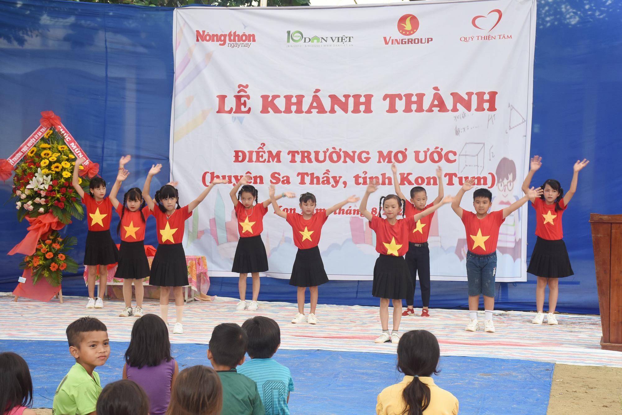 """Báo NTNN/Dân Việt - Quỹ Thiện Tâm khánh thành """"Điểm trường mơ ước"""" tại Kon Tum - Ảnh 1."""
