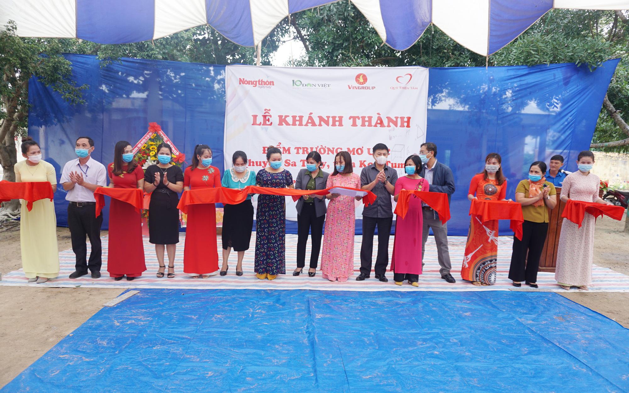 """""""Điểm trường mơ ước"""" tại xã nghèo ở Kon Tum được khánh thành, đưa vào sử dụng"""