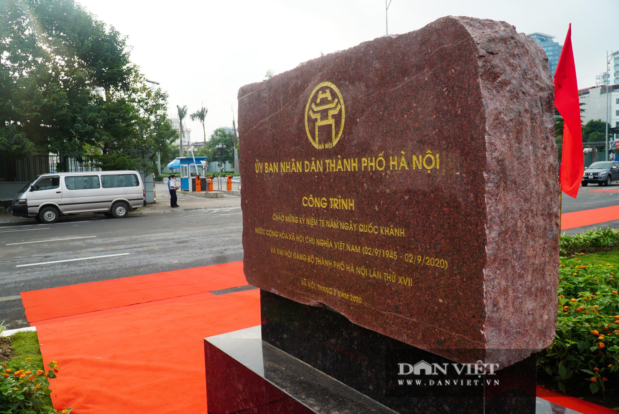 Bí thư Hà Nội dự lễ thông xe cầu vượt Nguyễn Văn Huyên - Hoàng Quốc Việt - Ảnh 9.