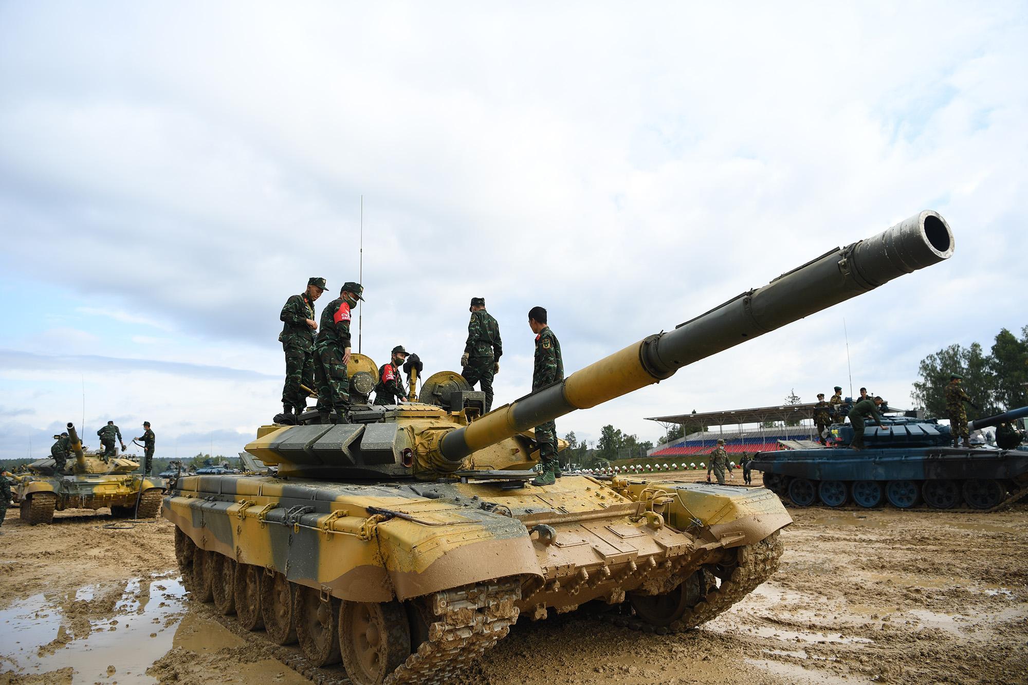 Hình ảnh xe tăng Việt Nam hùng dũng thi đấu ở trận 2 Tank Biathlon - Army Games 2020 - Ảnh 9.